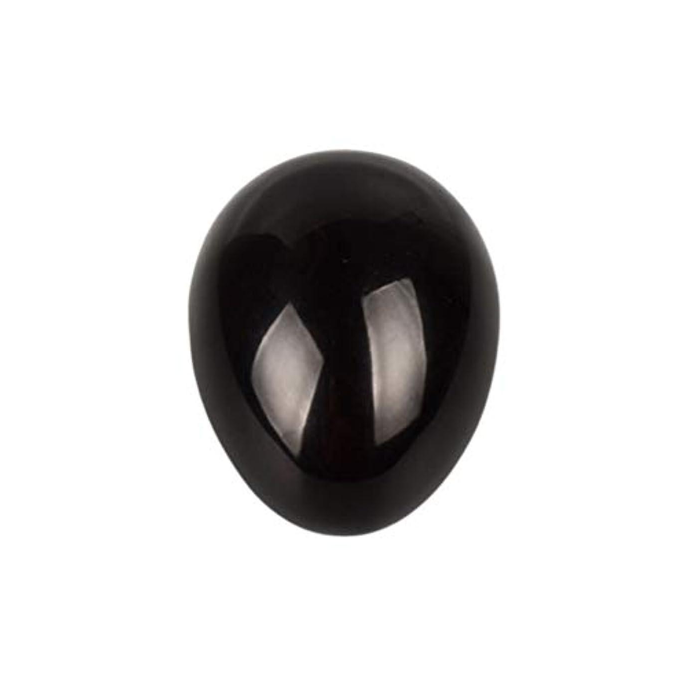 偶然コマースブレンドSUPVOX 45×30×30ミリメートルのバランスをとる瞑想チャクラを癒すための黒曜石宝石用原石の卵球