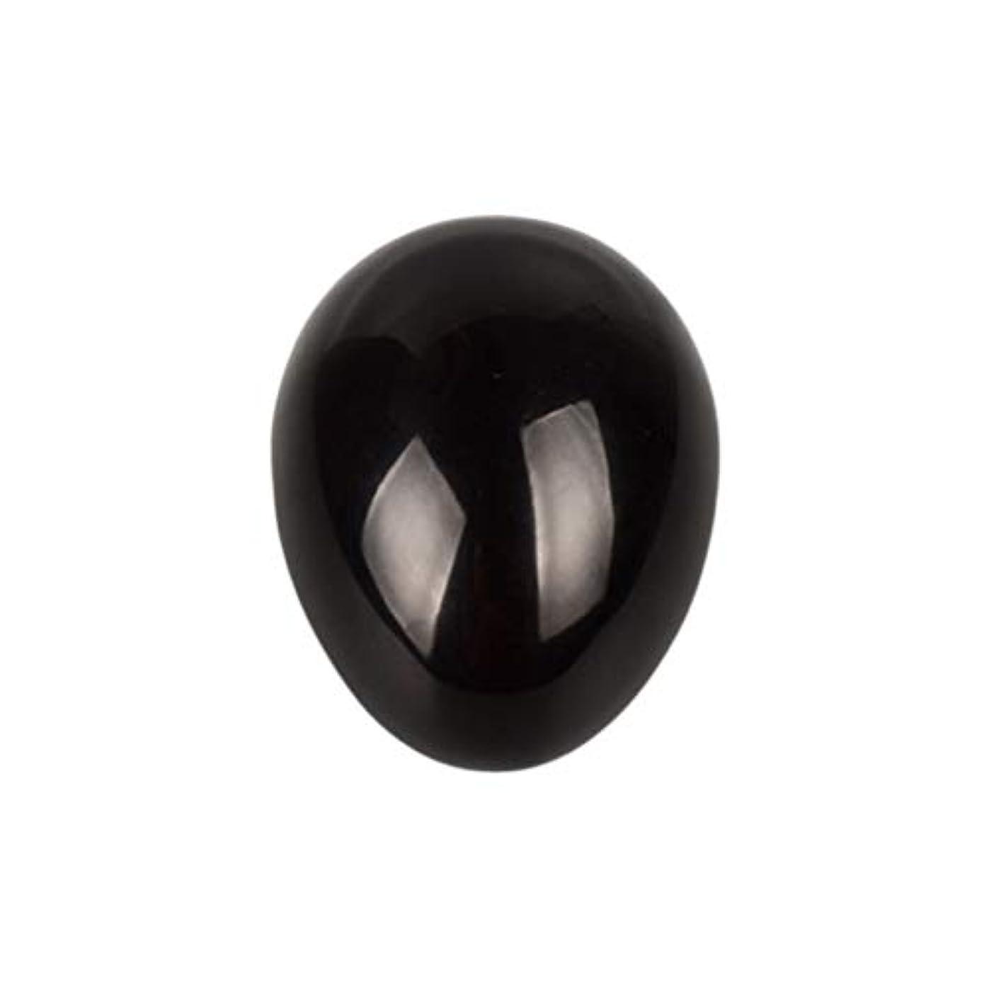 ミキサー乱す打たれたトラックSUPVOX 45×30×30ミリメートルのバランスをとる瞑想チャクラを癒すための黒曜石宝石用原石の卵球