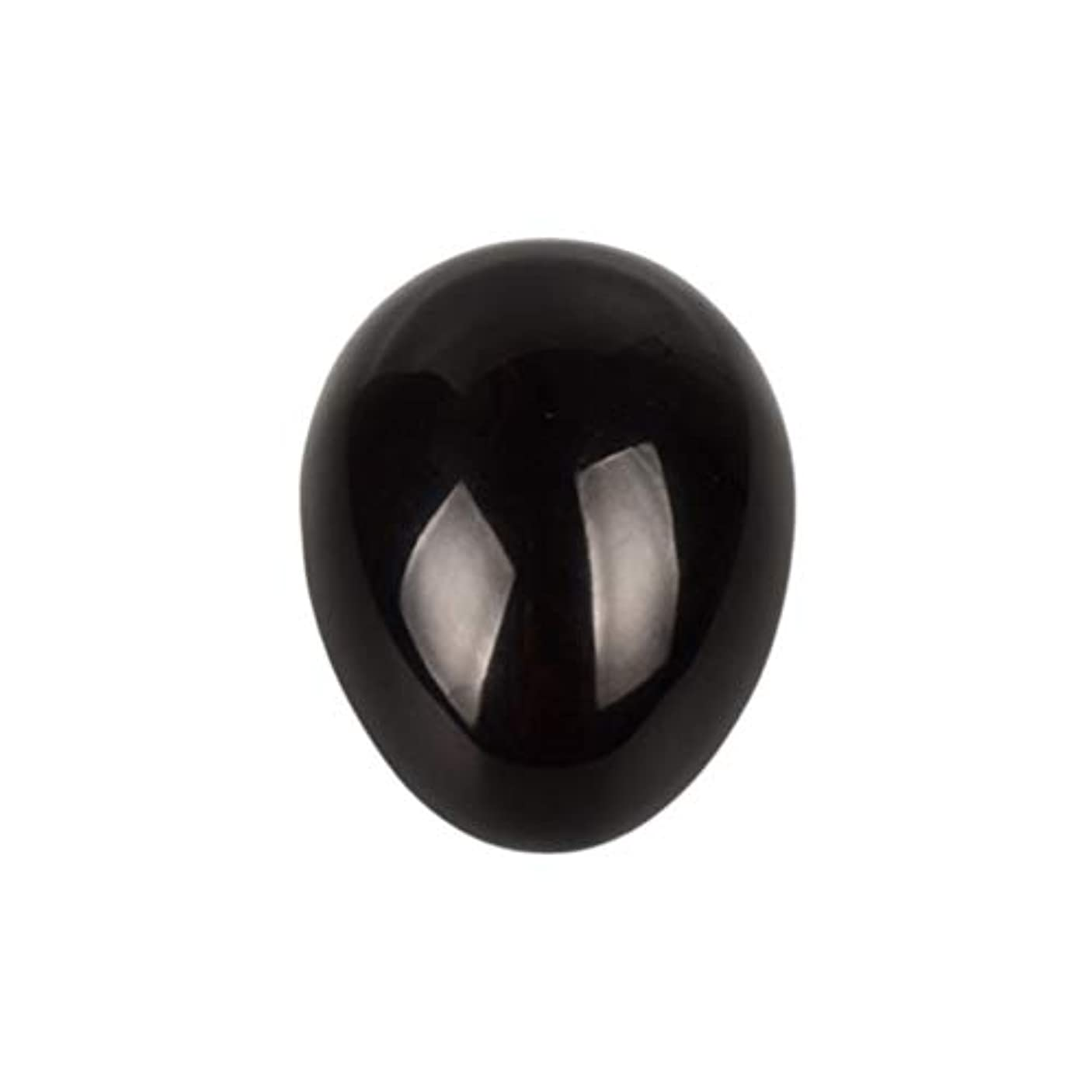 投票理論反逆者SUPVOX 45×30×30ミリメートルのバランスをとる瞑想チャクラを癒すための黒曜石宝石用原石の卵球