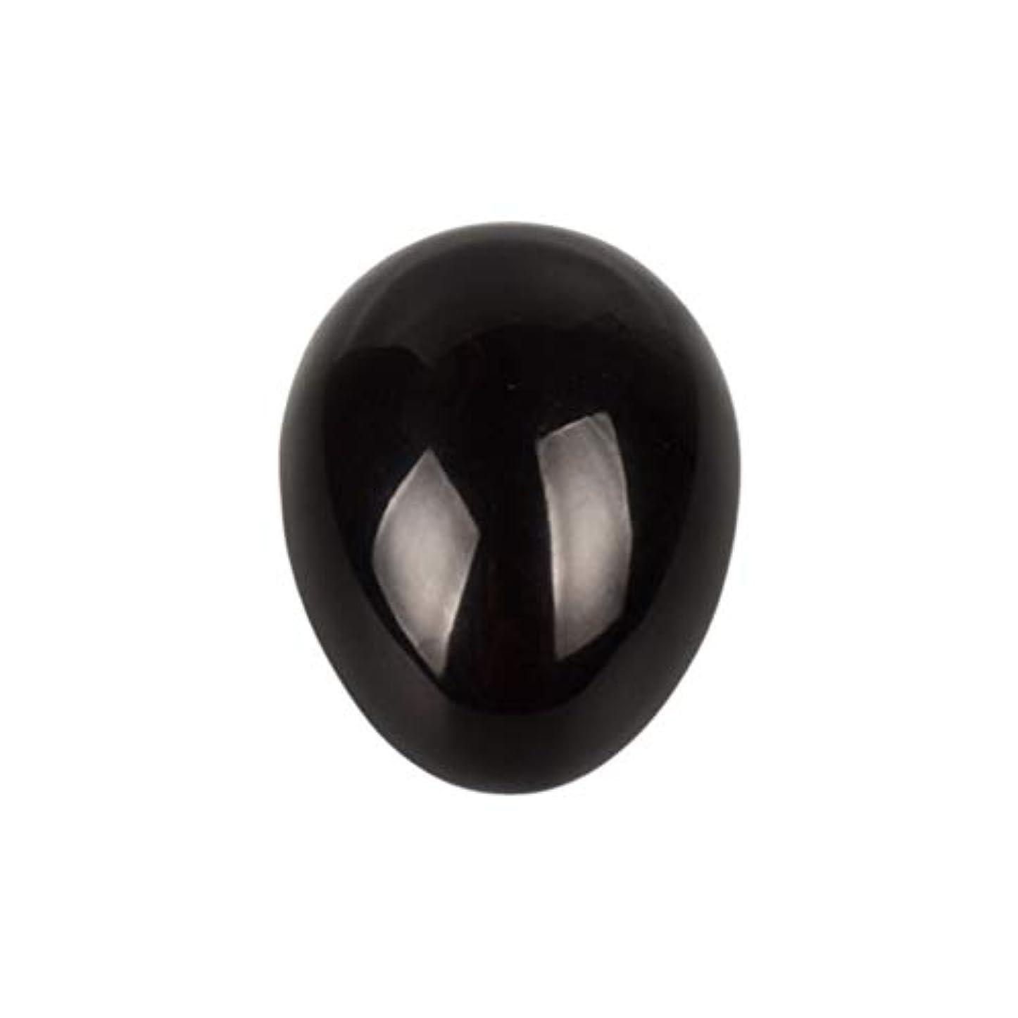 妖精肉腫さわやかHealifty 癒しの瞑想のための黒い黒曜石の宝石の卵球チャクラのバランスと家の装飾45 * 30 * 30ミリメートル