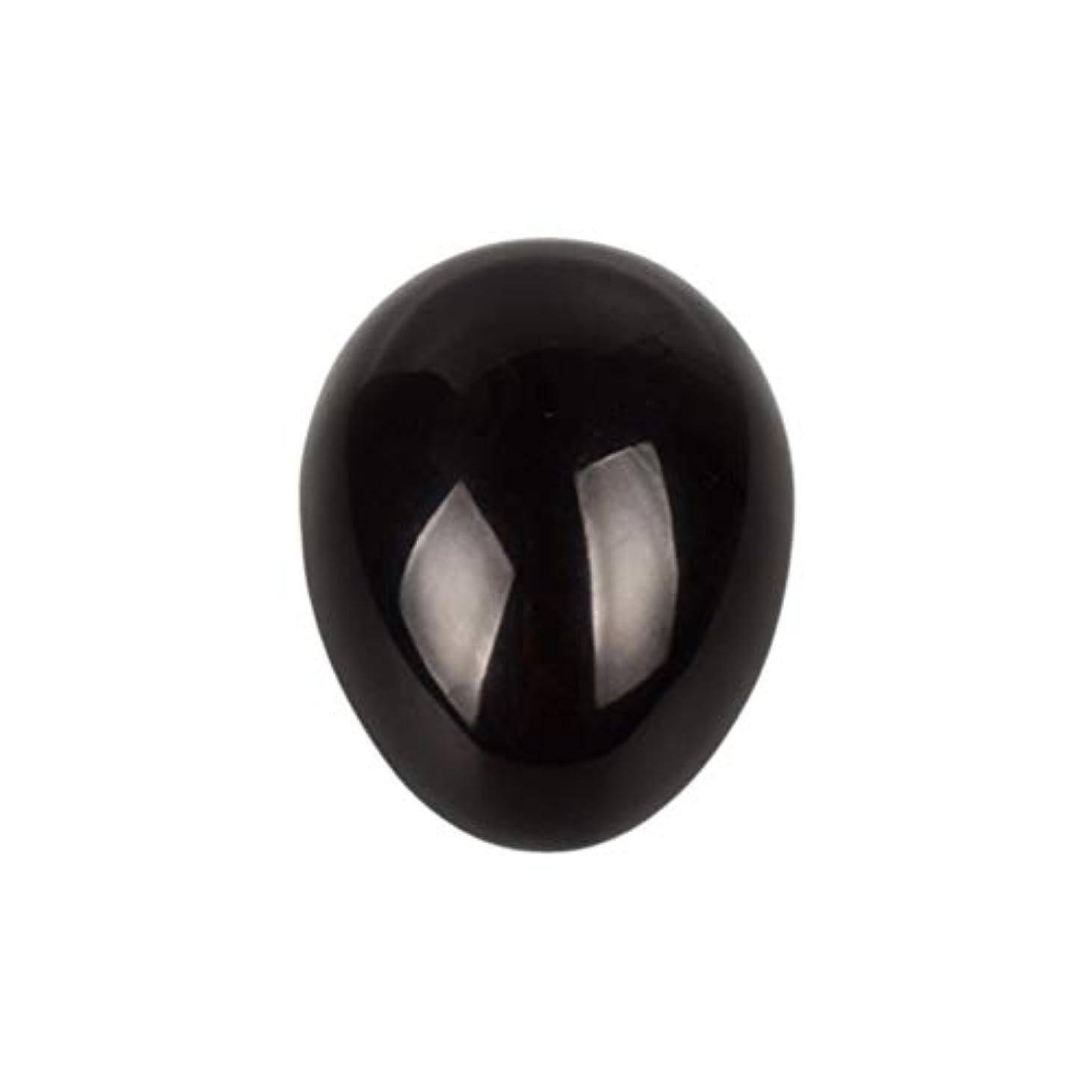 コカインめんどり宣言するROSENICE 瞑想チャクラバランスのための黒曜石の卵の球