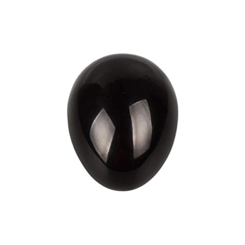 復讐泣いているトラフィックHealifty 癒しの瞑想のための黒い黒曜石の宝石の卵球チャクラのバランスと家の装飾45 * 30 * 30ミリメートル