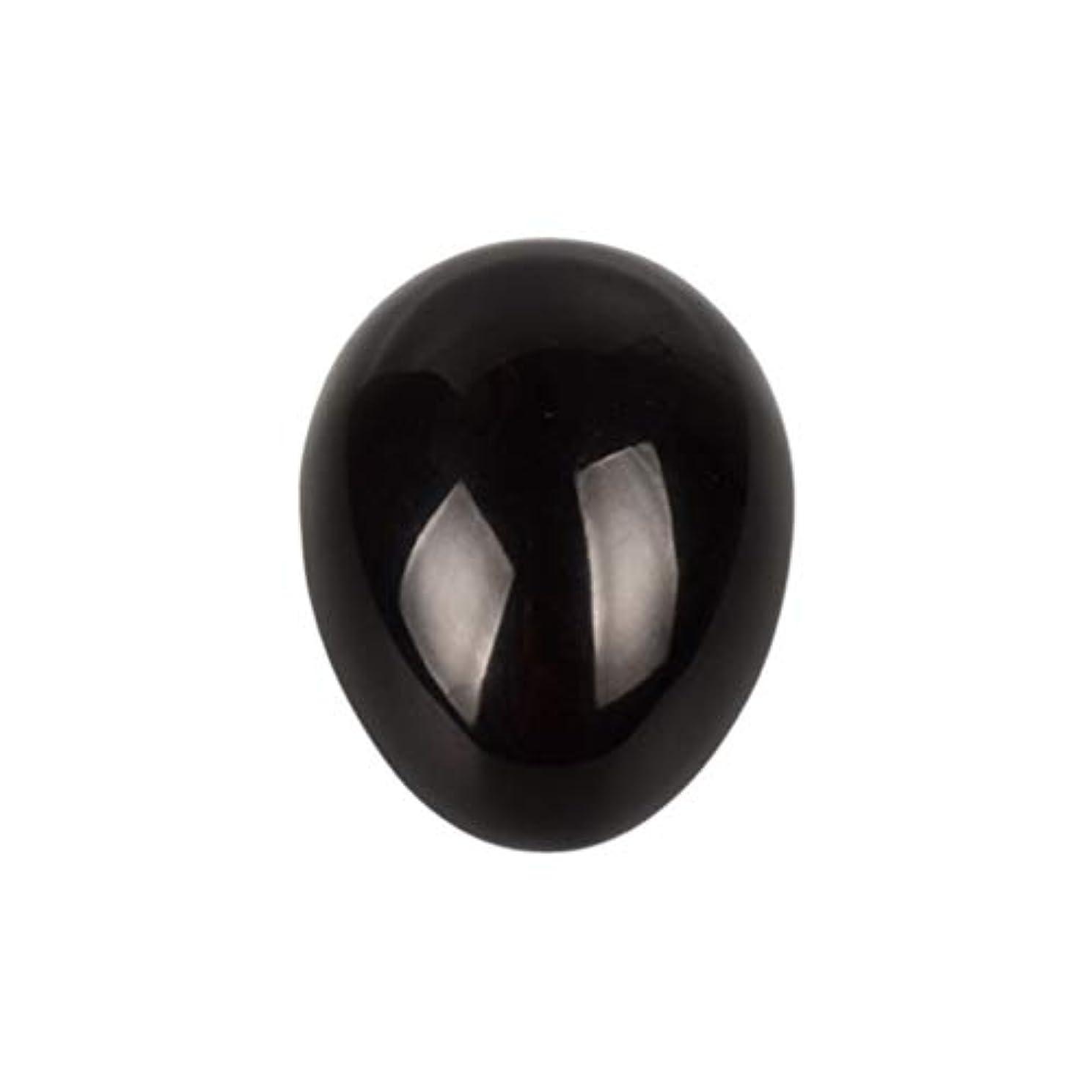 反対するほとんどの場合アシスタントSUPVOX 45×30×30ミリメートルのバランスをとる瞑想チャクラを癒すための黒曜石宝石用原石の卵球
