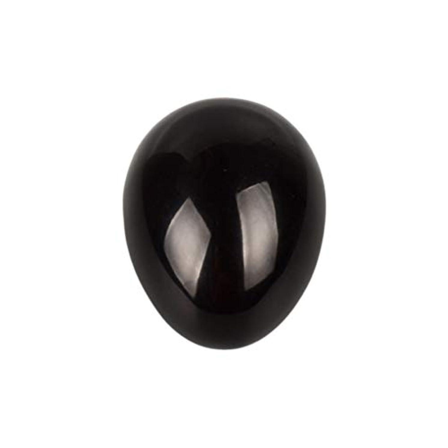 クレジット定期的にテクニカルHealifty 癒しの瞑想のための黒い黒曜石の宝石の卵球チャクラのバランスと家の装飾45 * 30 * 30ミリメートル