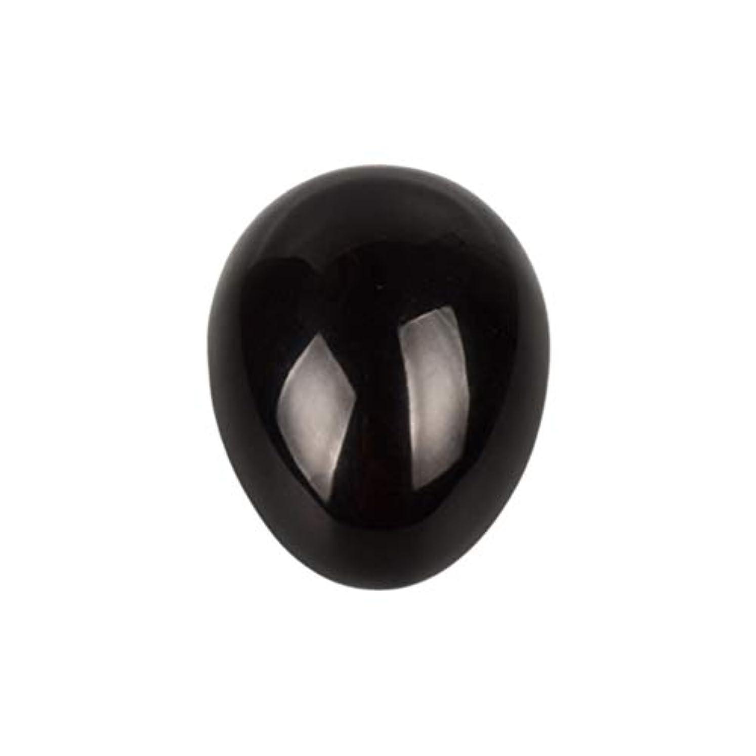クリーナー電気陽性なめらかHealifty 癒しの瞑想のための黒い黒曜石の宝石の卵球チャクラのバランスと家の装飾45 * 30 * 30ミリメートル