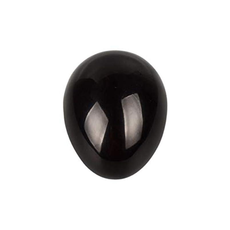 SUPVOX 45×30×30ミリメートルのバランスをとる瞑想チャクラを癒すための黒曜石宝石用原石の卵球