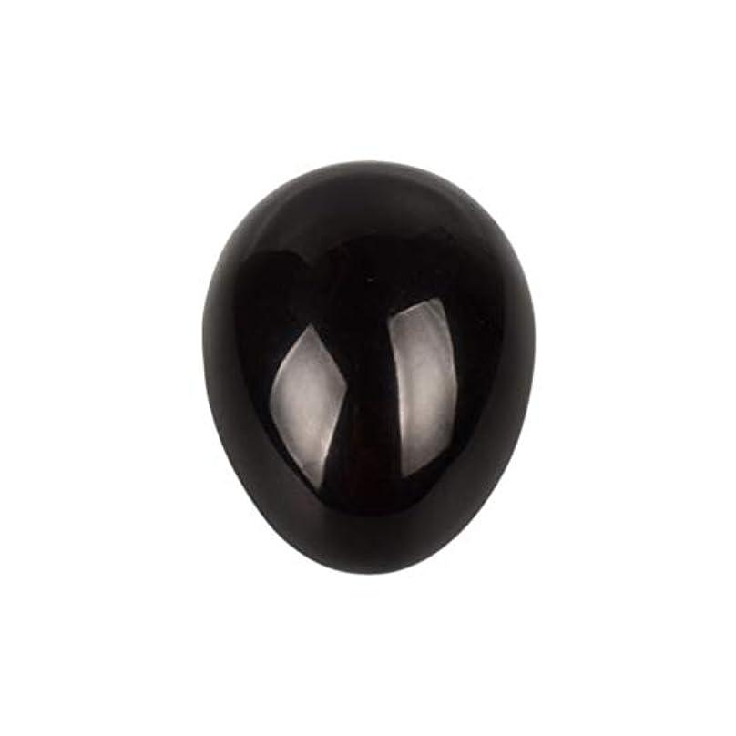 闘争計算可能ビルマROSENICE 瞑想チャクラバランスのための黒曜石の卵の球