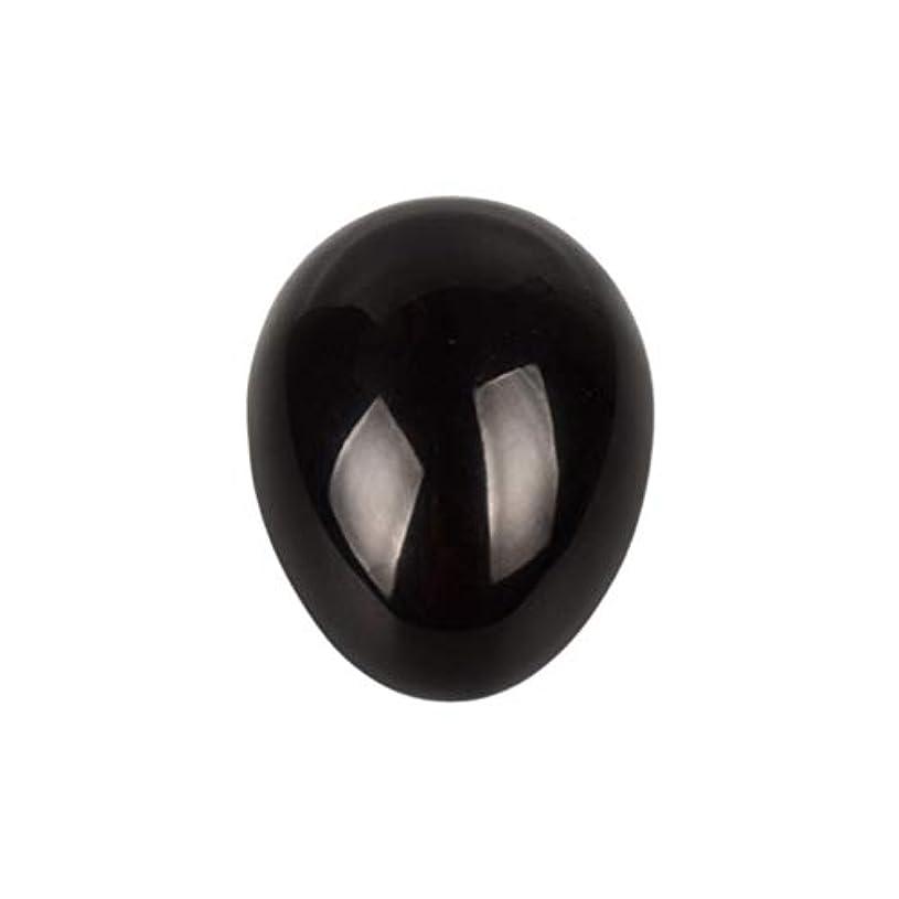 所属びっくりする構成員Healifty 癒しの瞑想のための黒い黒曜石の宝石の卵球チャクラのバランスと家の装飾45 * 30 * 30ミリメートル