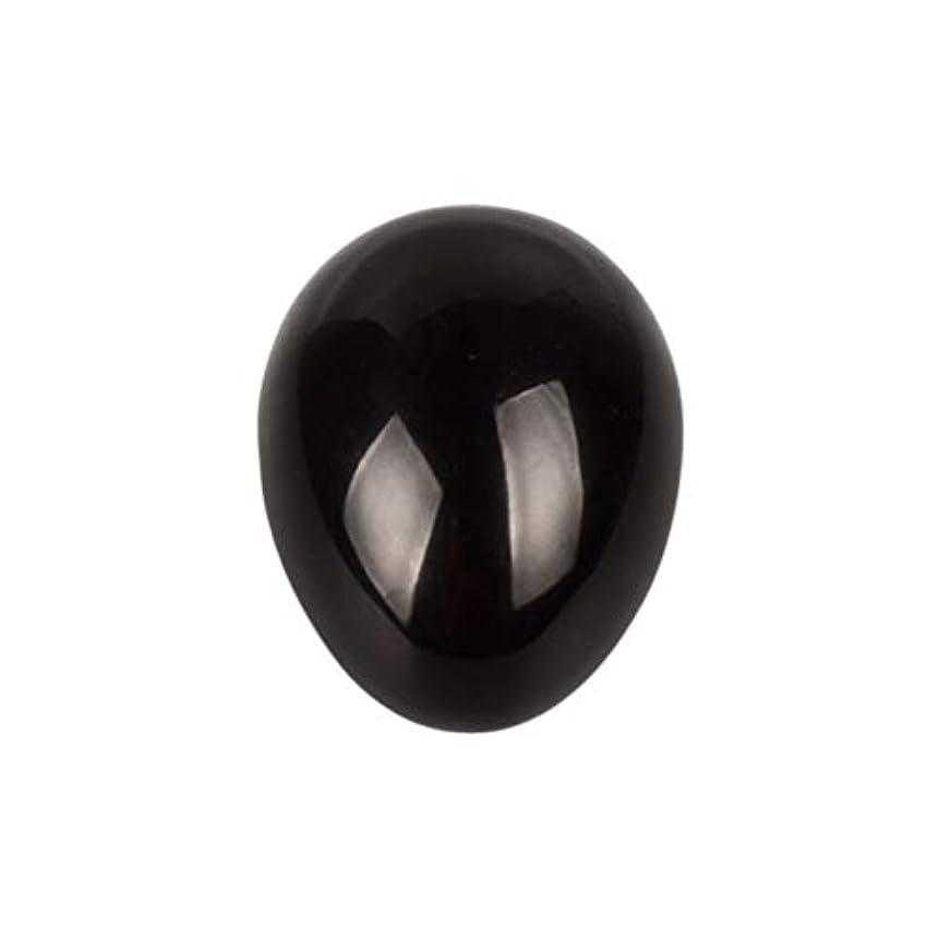 人工投げる六月Healifty 癒しの瞑想のための黒い黒曜石の宝石の卵球チャクラのバランスと家の装飾45 * 30 * 30ミリメートル