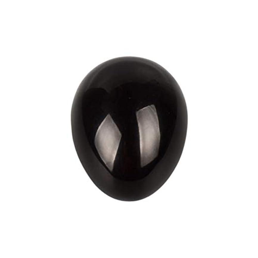 農学怖がって死ぬ告白Healifty 癒しの瞑想のための黒い黒曜石の宝石の卵球チャクラのバランスと家の装飾45 * 30 * 30ミリメートル