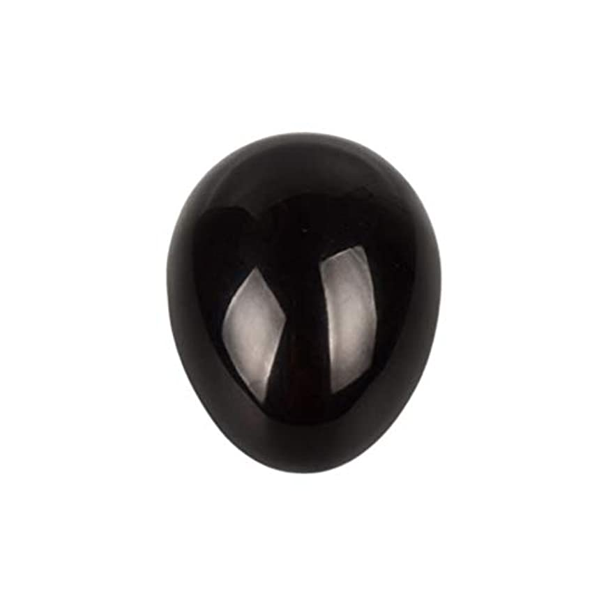先騒乱皮肉Healifty 癒しの瞑想のための黒い黒曜石の宝石の卵球チャクラのバランスと家の装飾45 * 30 * 30ミリメートル