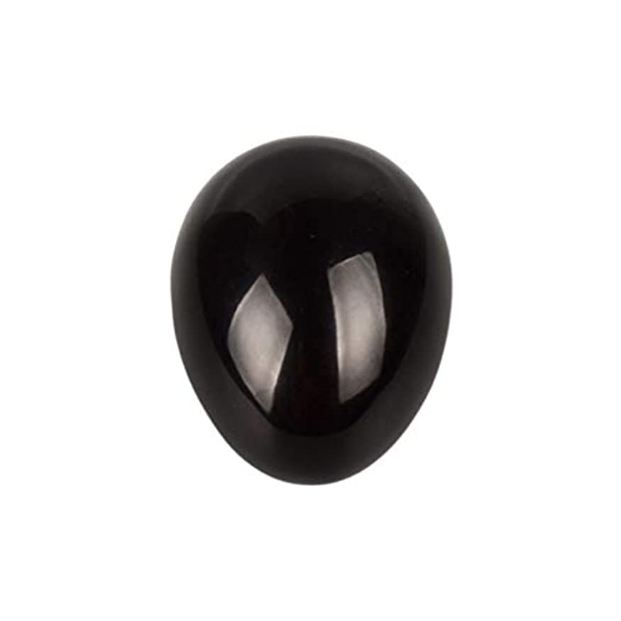 承認する重々しいスタックROSENICE 瞑想チャクラバランスのための黒曜石の卵の球