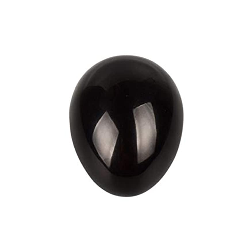 十分ですスカープ味わうROSENICE 瞑想チャクラバランスのための黒曜石の卵の球