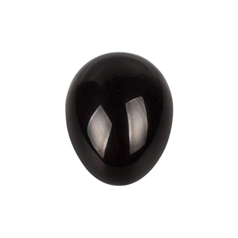 引き出すスマッシュつぶすHealifty 癒しの瞑想のための黒い黒曜石の宝石の卵球チャクラのバランスと家の装飾45 * 30 * 30ミリメートル