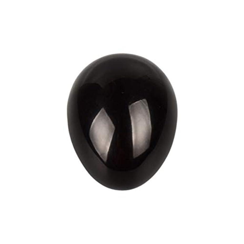 シャーロックホームズするだろうプリーツSUPVOX 45×30×30ミリメートルのバランスをとる瞑想チャクラを癒すための黒曜石宝石用原石の卵球