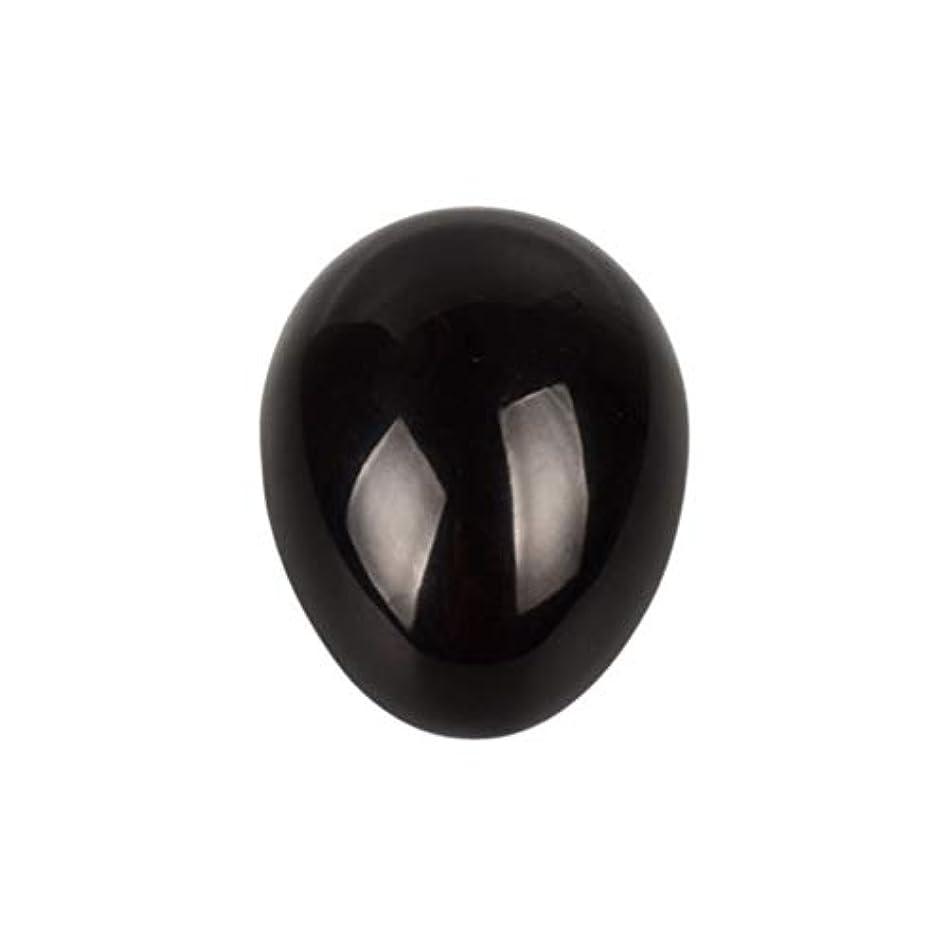 全国生産的驚ROSENICE 瞑想チャクラバランスのための黒曜石の卵の球