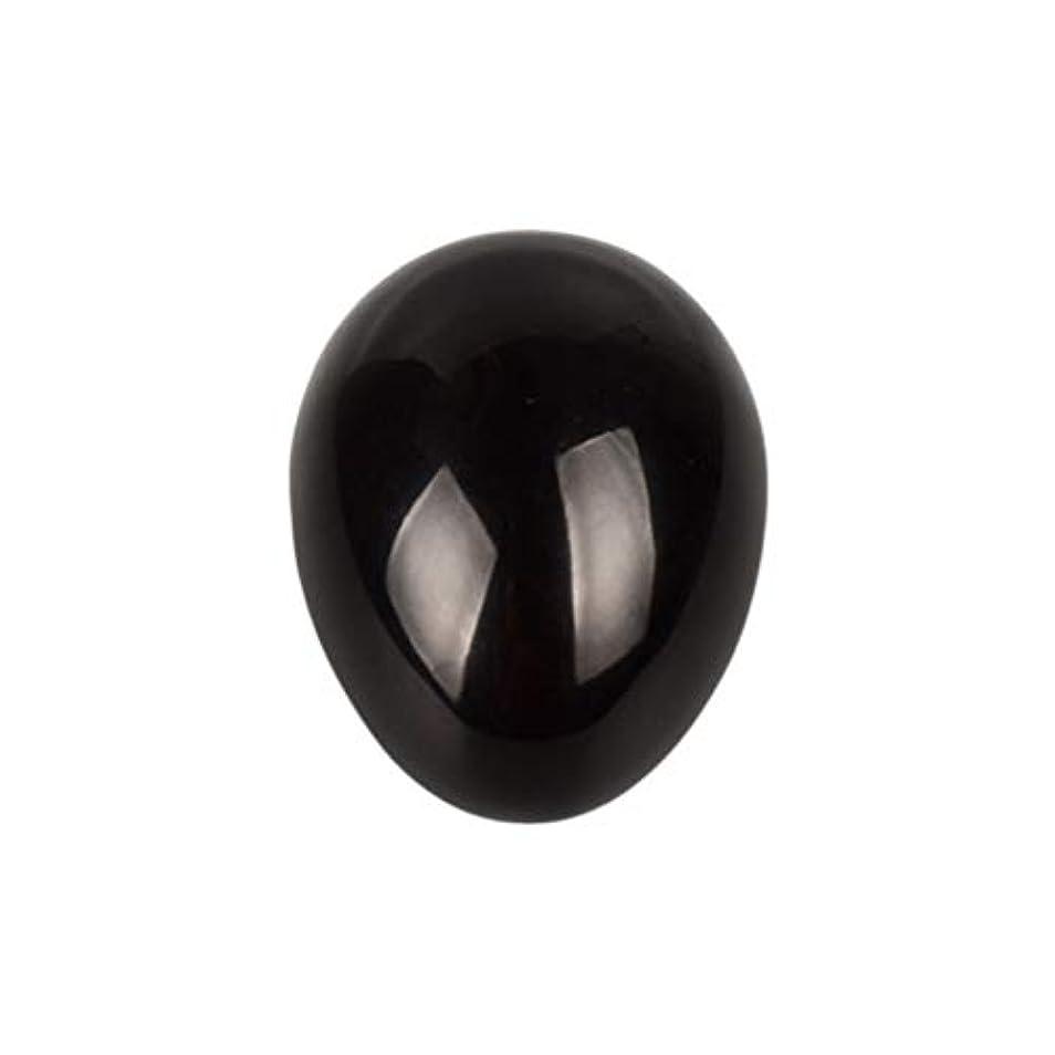 求めるパイ混沌SUPVOX 45×30×30ミリメートルのバランスをとる瞑想チャクラを癒すための黒曜石宝石用原石の卵球