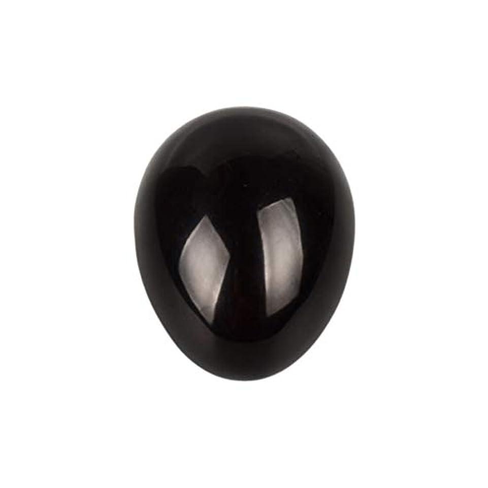 自転車言い訳ファントムHealifty 癒しの瞑想のための黒い黒曜石の宝石の卵球チャクラのバランスと家の装飾45 * 30 * 30ミリメートル