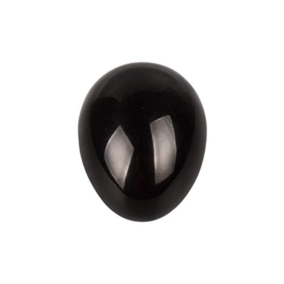 実り多い誇張怖がらせるROSENICE 瞑想チャクラバランスのための黒曜石の卵の球