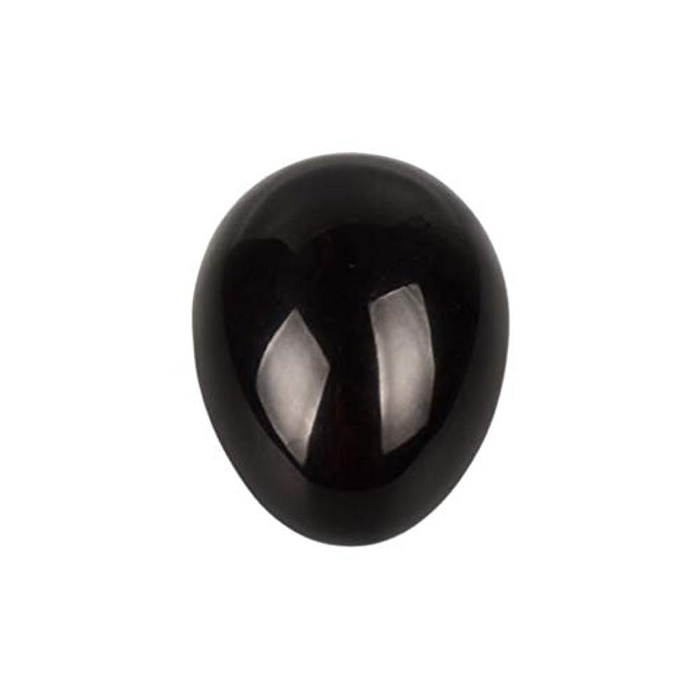 協力的クライマックスかんがいHealifty 癒しの瞑想のための黒い黒曜石の宝石の卵球チャクラのバランスと家の装飾45 * 30 * 30ミリメートル
