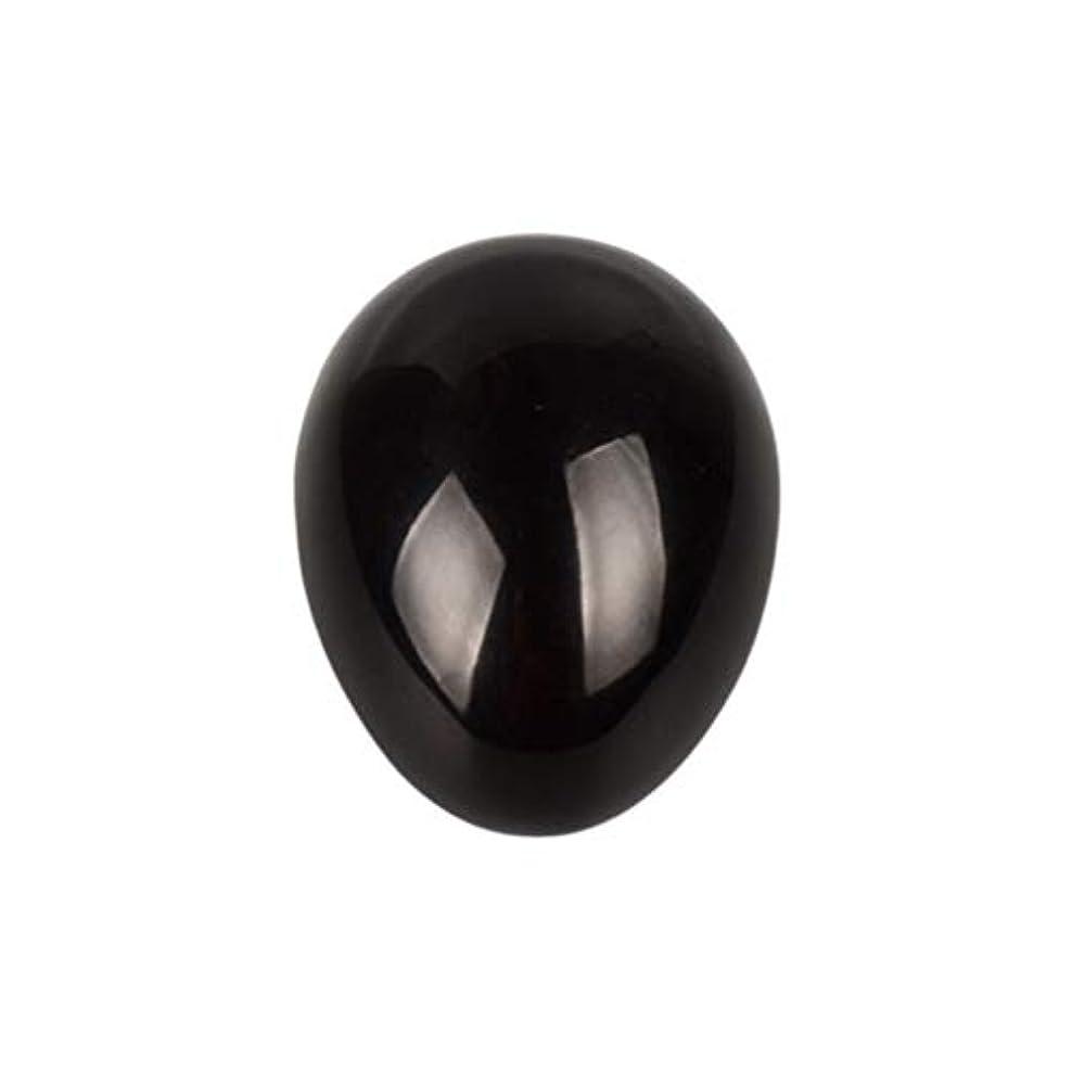 連合会議抵抗力があるSUPVOX 45×30×30ミリメートルのバランスをとる瞑想チャクラを癒すための黒曜石宝石用原石の卵球