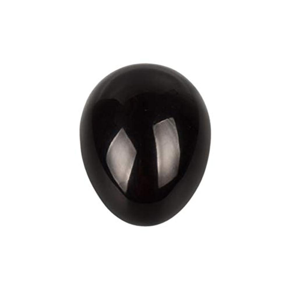 郵便屋さん船酔い匹敵しますSUPVOX 45×30×30ミリメートルのバランスをとる瞑想チャクラを癒すための黒曜石宝石用原石の卵球