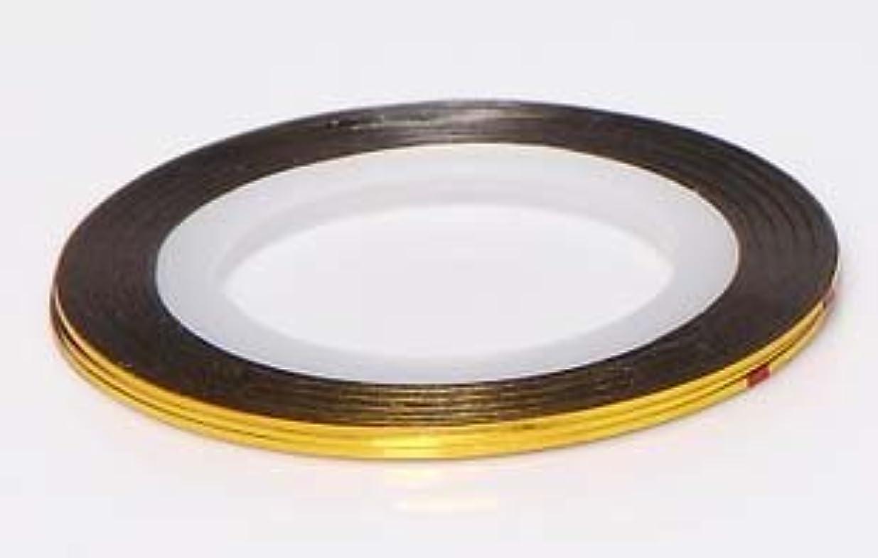 プリーツ獲物電極【ラインストーン77】 ラインテープ 1mm 金色