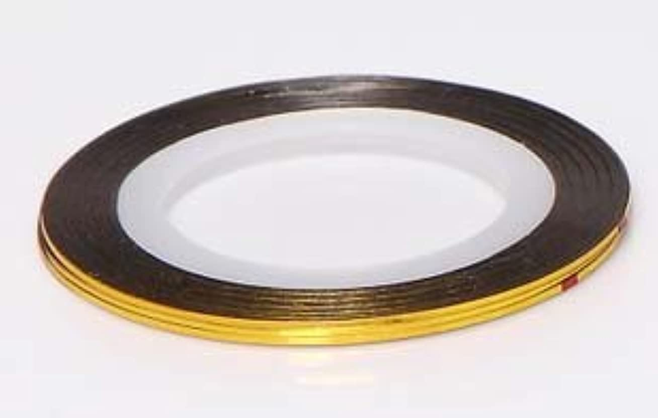 欠如次想定する【ラインストーン77】 ラインテープ 1mm 金色