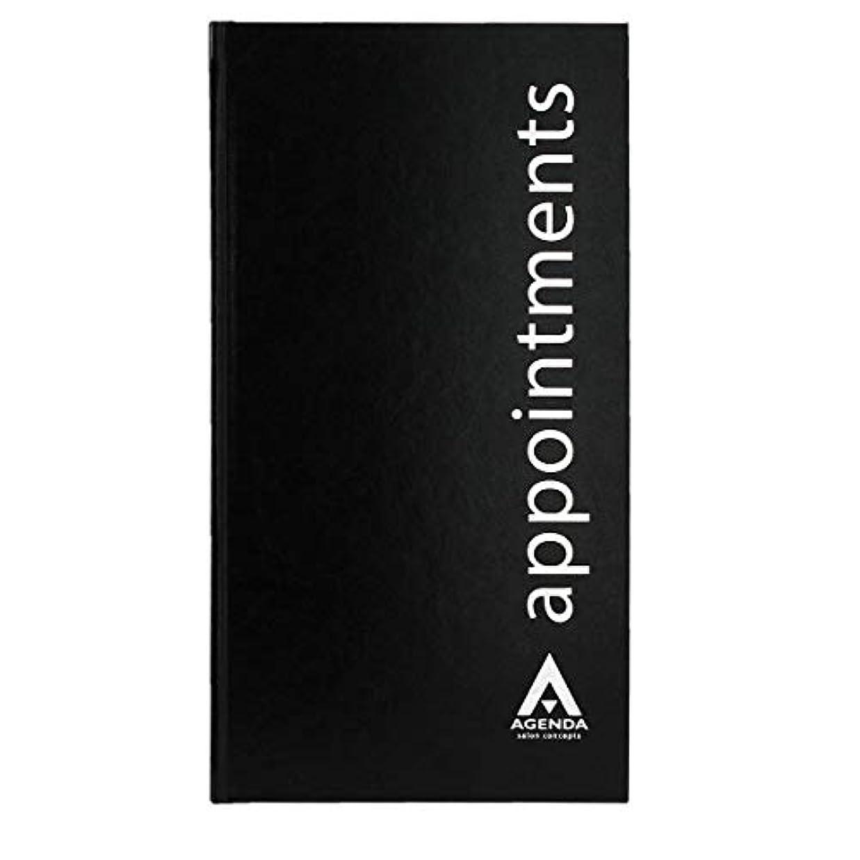 アジェンダ サロンコンセプト 美容アポイントメントブック3アシスタントブラック[海外直送品] [並行輸入品]