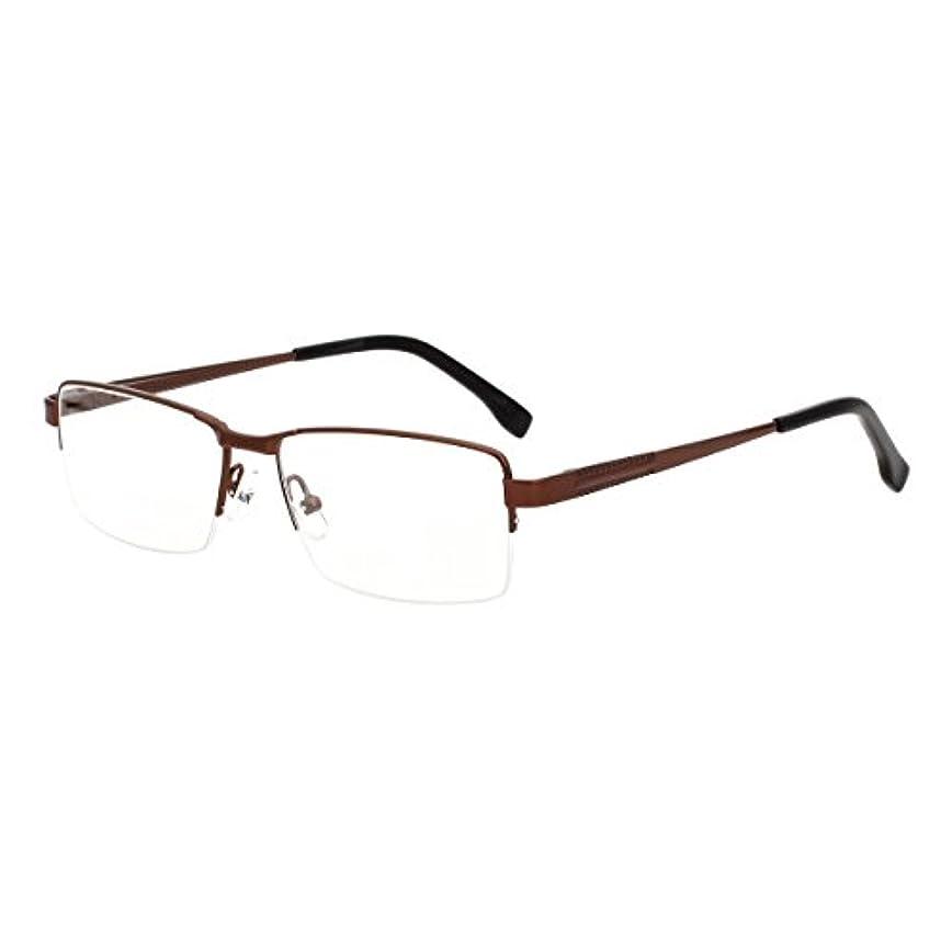 スカリー触覚中庭VIVIENFANG おしゃれクラシック老眼鏡 スクエア超軽量フレーム ブルーライトカット シニアグラス リーディンググラス TR90フレーム J8017(ブラウン度数+2.25)