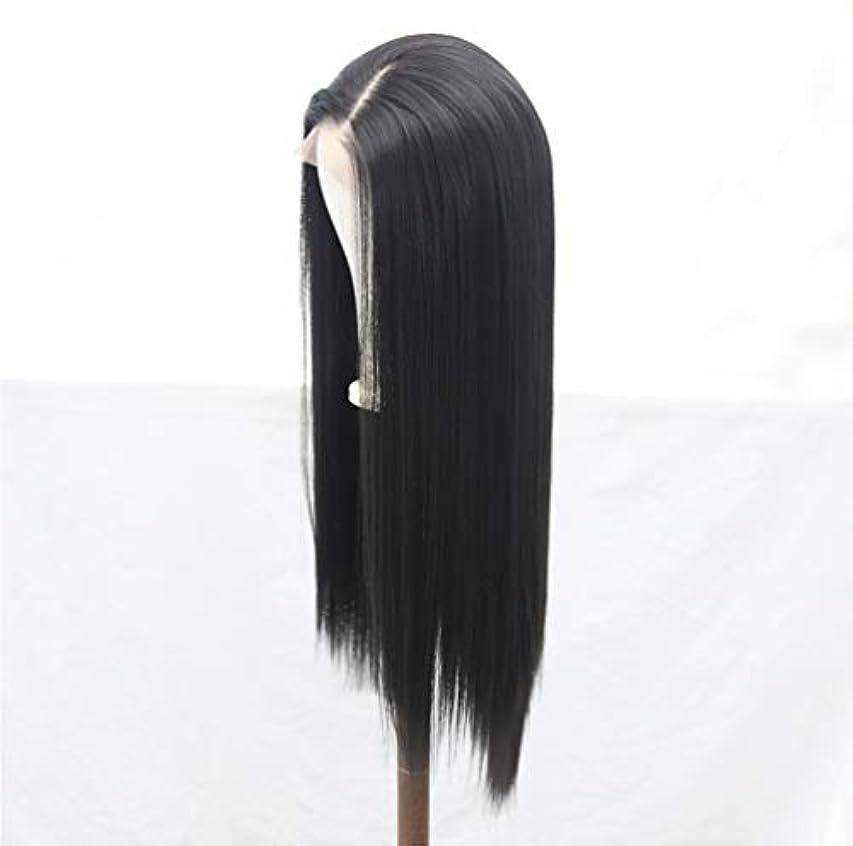 委託振る舞い空気女性かつら150%密度フロントレースブラジルカーリーかつら合成繊維耐熱高品質かつら