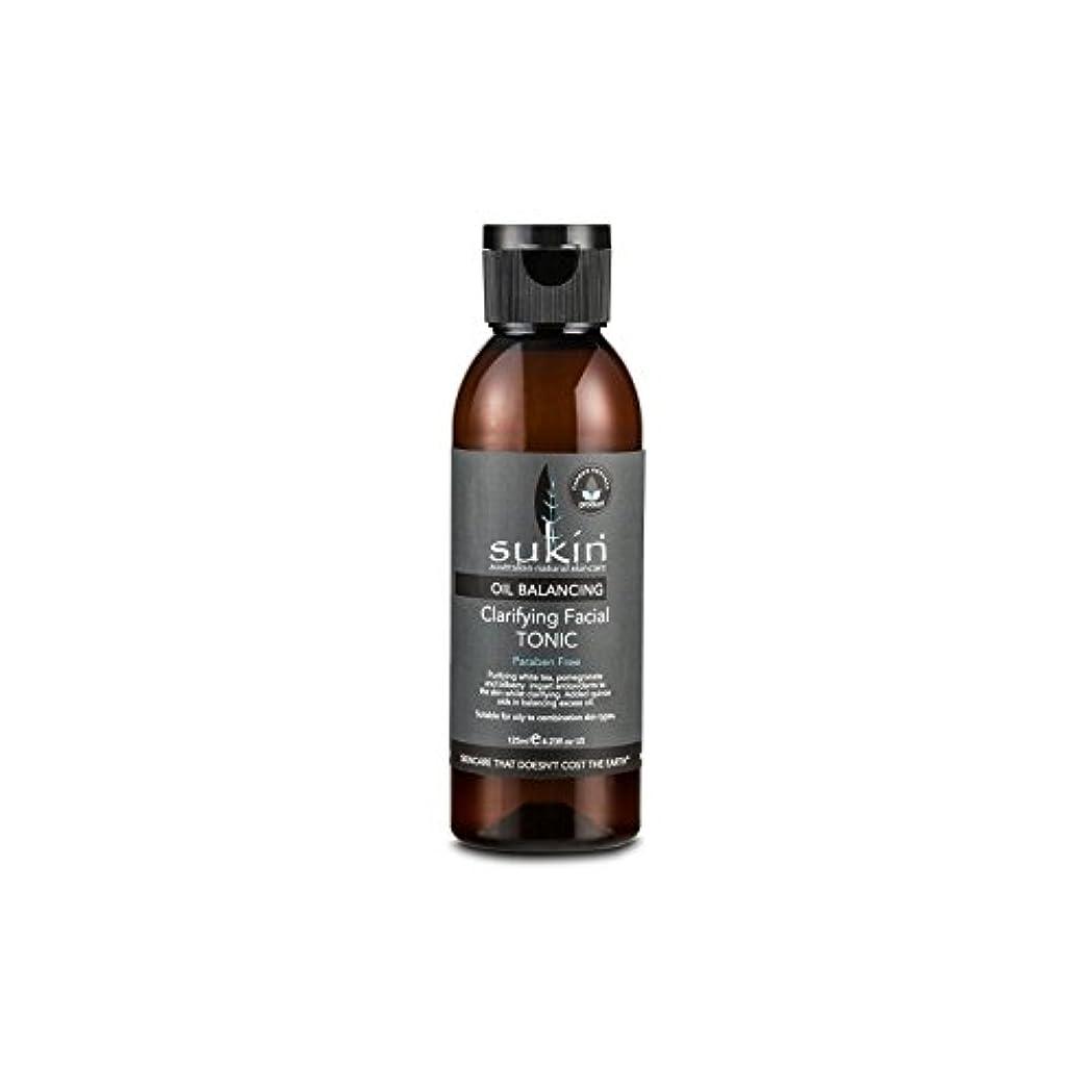 紀元前悪名高い保全Sukin Oil Balancing Clarifying Facial Tonic 125ml (Pack of 6) - フェイシャルトニック125ミリリットルを明確オイルバランシング x6 [並行輸入品]