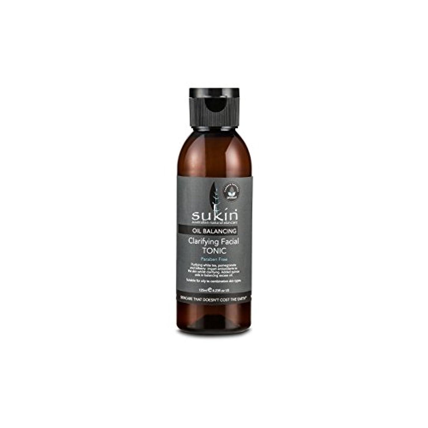 浸したアンケート兵隊フェイシャルトニック125ミリリットルを明確オイルバランシング x4 - Sukin Oil Balancing Clarifying Facial Tonic 125ml (Pack of 4) [並行輸入品]
