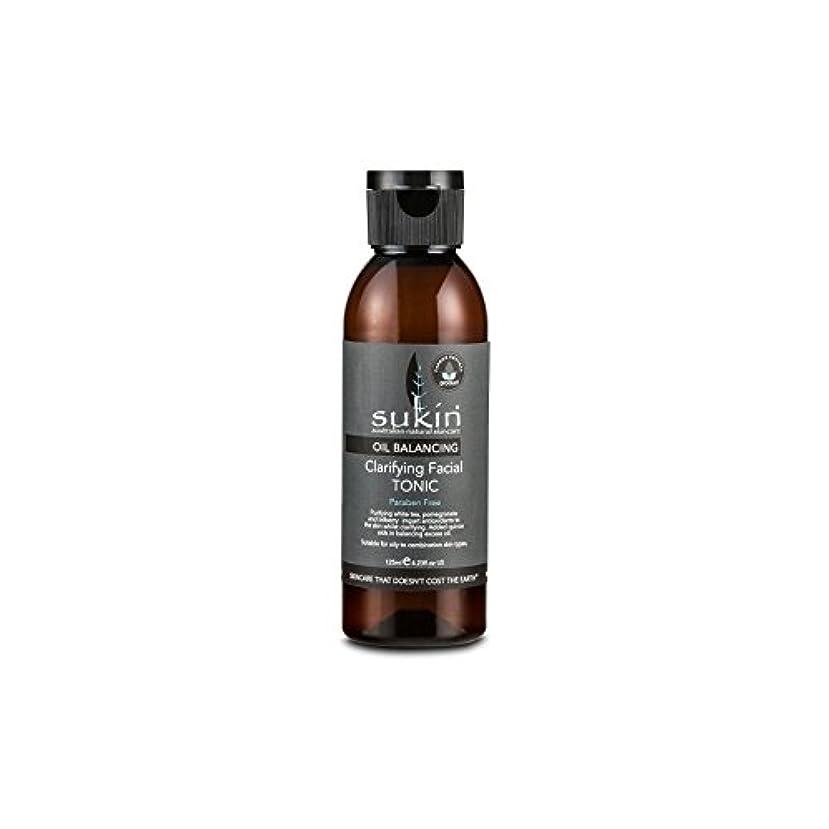 マーキング天の迫害Sukin Oil Balancing Clarifying Facial Tonic 125ml (Pack of 6) - フェイシャルトニック125ミリリットルを明確オイルバランシング x6 [並行輸入品]