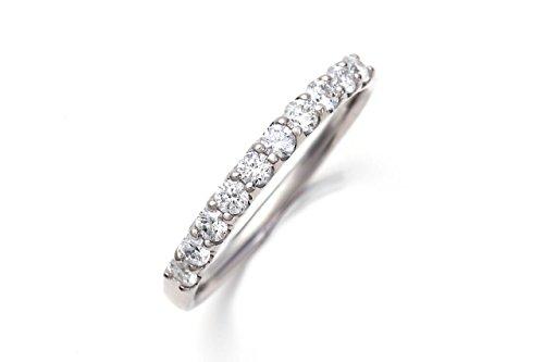 LEGAN ハーフ エタニティリング 指輪 8号 PT900 10粒ダイヤモンド 0.3ct
