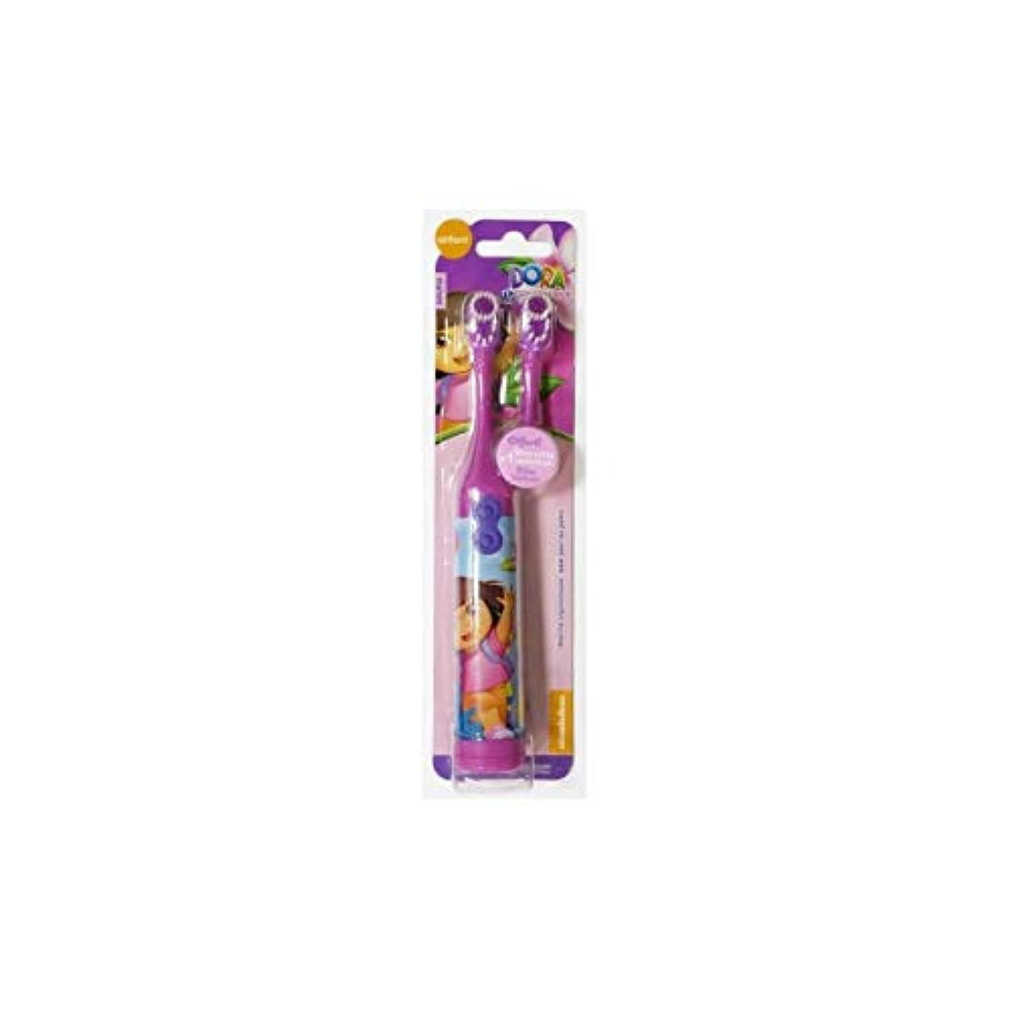 本土水分干し草ドーラ子供用電動歯ブラシ(DORA Electric spin Toothbrush for Kids)