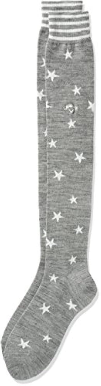 明るくする脆い汚い(キャロウェイアパレル)Callaway Apparel 星条旗柄 ニーハイソックス ( サーモキャッチ採用:保温性 ) 【 241-6285808 】[レディース]