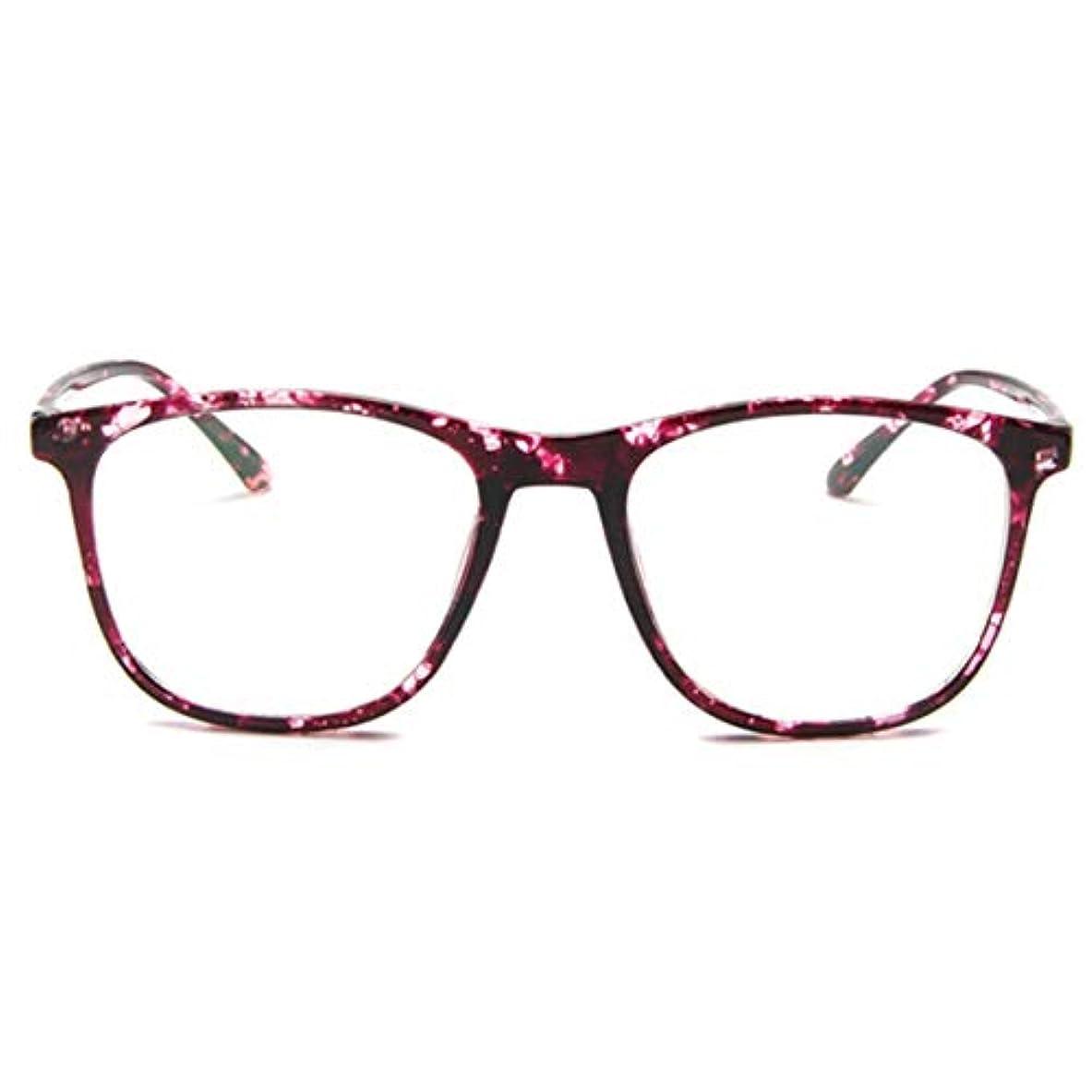 準備した船形付録韓国の学生のプレーンメガネ男性と女性のファッションメガネフレーム近視メガネフレームファッショナブルなシンプルなメガネ-パープル