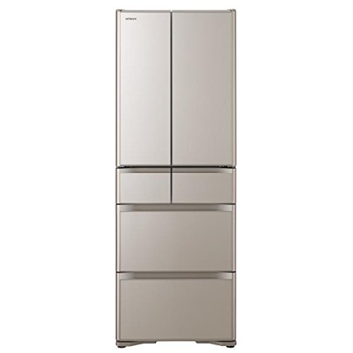 日立 430L 6ドア冷蔵庫(クリスタルシャンパン)HITACHI R-XG4300H-XN