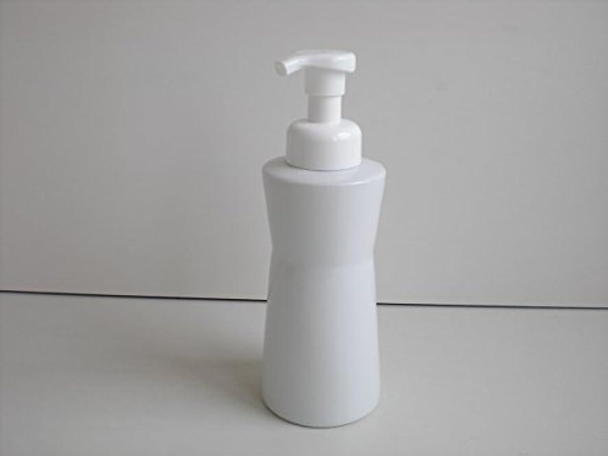 流産圧縮されたいう泡ポンプ 泡ボディ ホワイトガーデンムースボディポンプ  500ml 白磁器