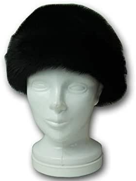 ミンクファー ターバン付き帽子 ブラック 56センチ