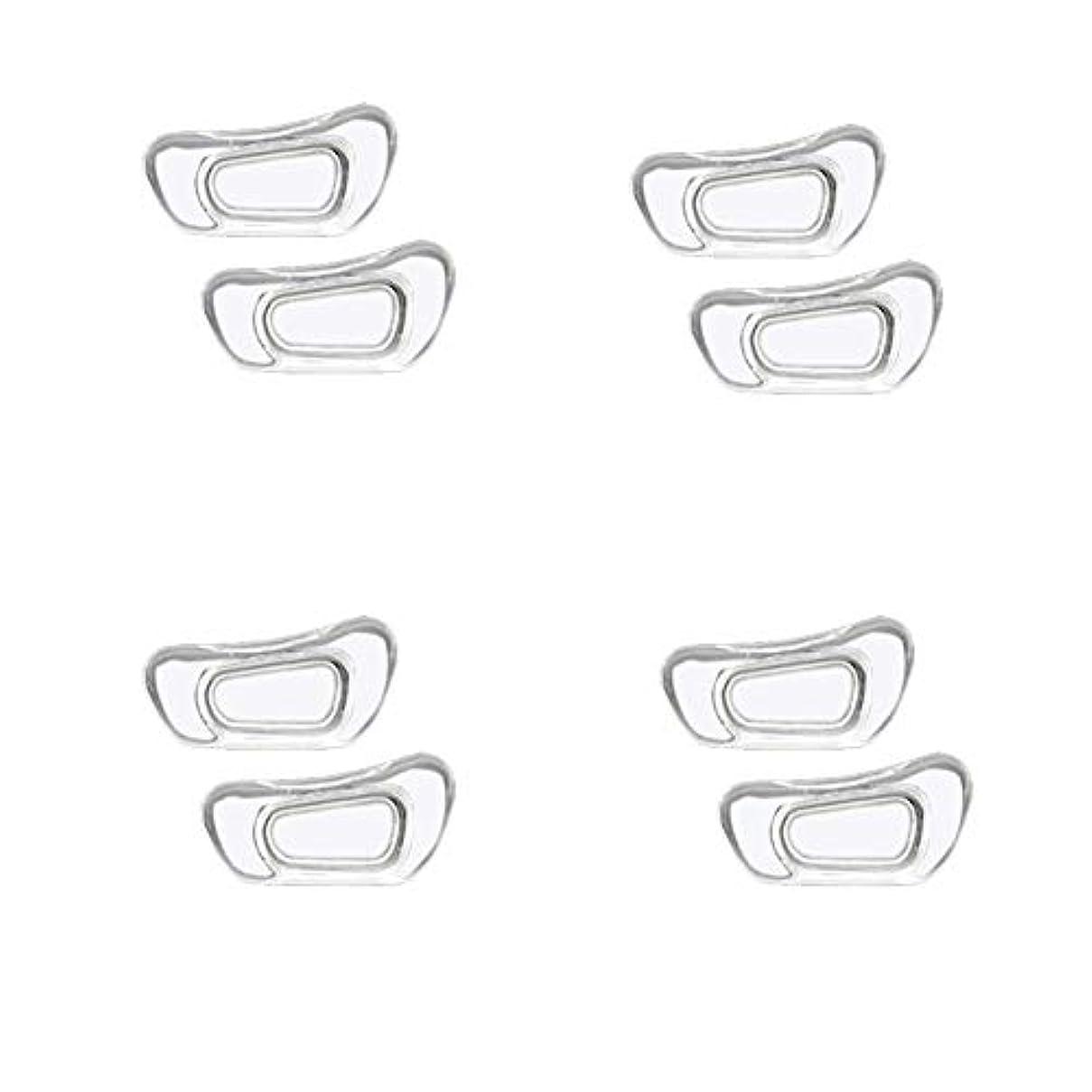 表現わずらわしいふくろうChinashow 4ペア透明シリコーン眼鏡 ノーズパッド - クラスプは#15スーパーソフトノンスリップ鼻パッド 入力します