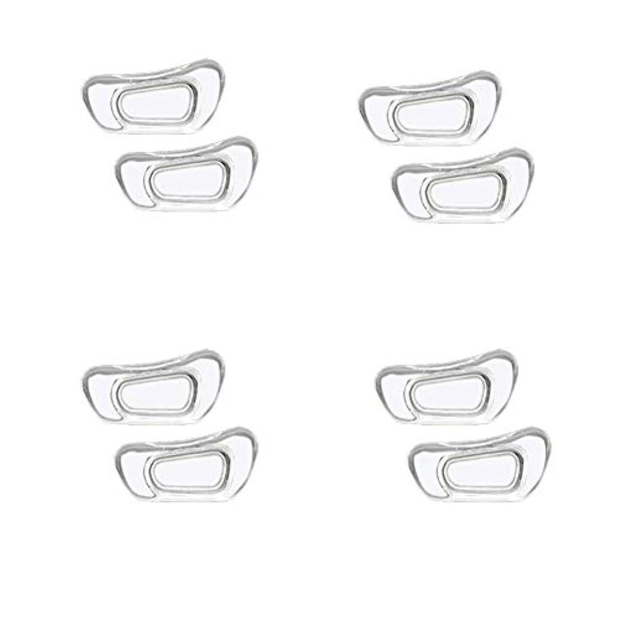 パートナー告白するイースターChinashow 4ペア透明シリコーン眼鏡 ノーズパッド - クラスプは#15スーパーソフトノンスリップ鼻パッド 入力します