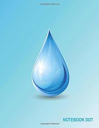 Notebook Dot: Drop Blue World Water: Notebook Journal Diary, 110 Pages, 8.5