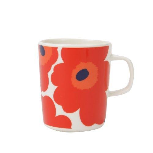 Marimekko [ マリメッコ ] ウニッコ マグカップ 250ml UNIKKO 63431/001 ホワイト/レッド [並行輸入品]
