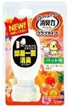【エステー】フレッシュパワー 消臭力 玄関・リビング用 本体 ペット用 フルーティーガーデンの香り 20ml