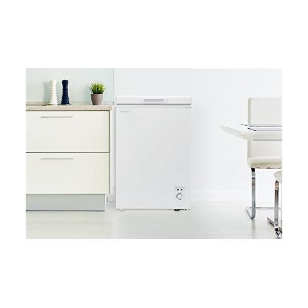 チェスト型冷凍庫 98L ホワイト 庫内灯付き...の紹介画像7