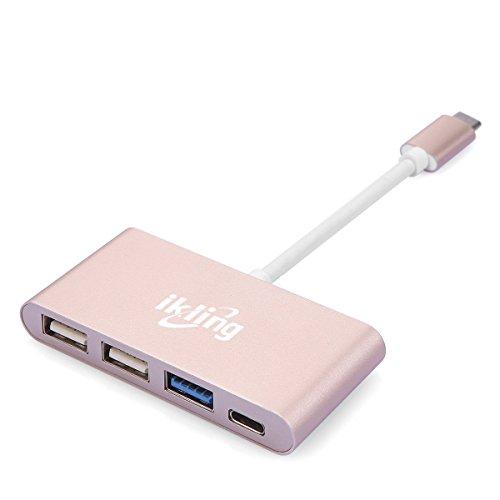 USBハブ 3in1 Cポート USB Hub コンバータ 携帯型 kakadan アルミニウム 合金 USB充電 MacBookPro...