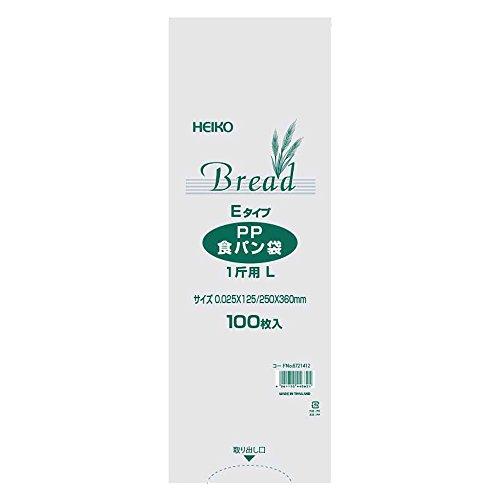 ヘイコー 食品袋 PP 食パン袋 1斤用L Eタイプ 100枚入り 006721412