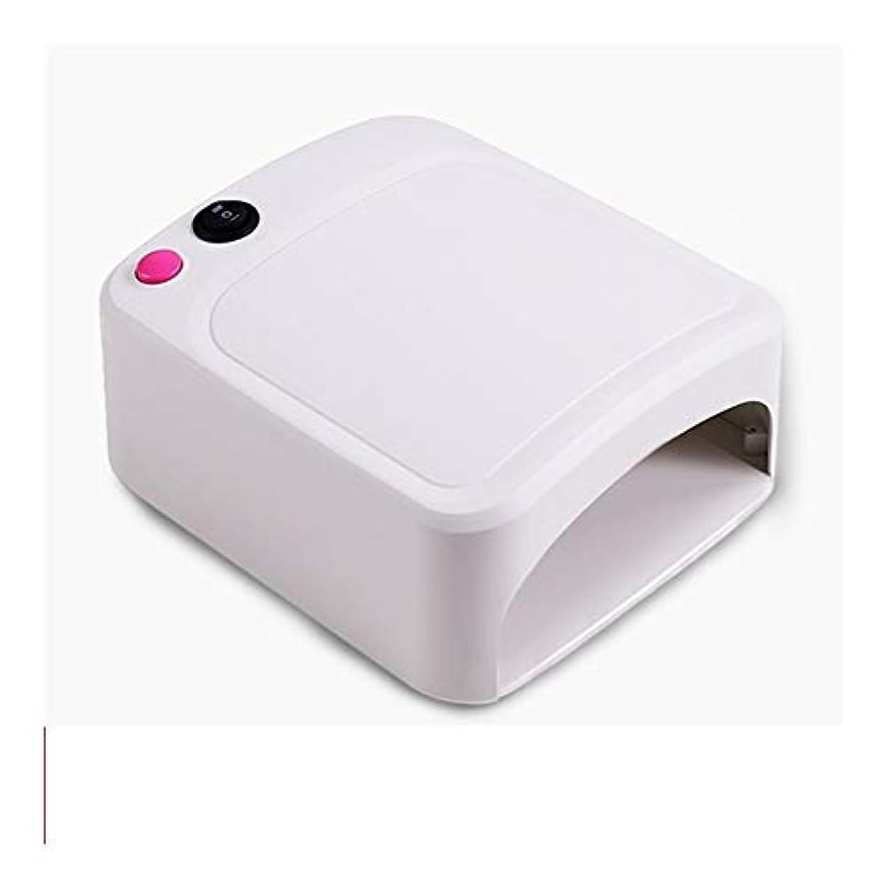ギャング愚かな補足LittleCat ネイルネイル光線療法機UVランプ36W UVライトローストネイルドライヤー (色 : Pink euro circle)